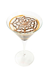 Coffee cocktail isolated