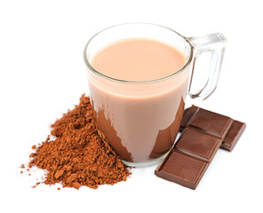 Cocoa drink .