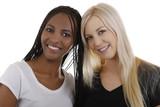 Afrikanerin u.Europäerin  zusammen - african and white woma