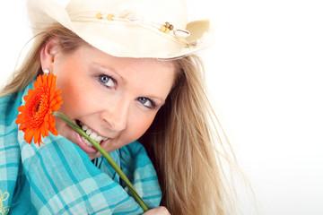 Cowboyhut und Blume