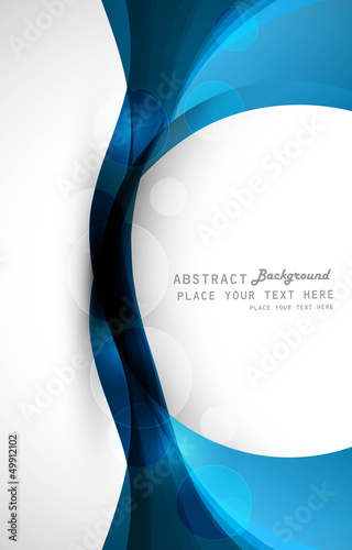 abstract vector colorful stylish blue circle wave technology