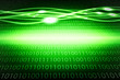 Green, glowing binary background