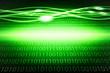 Green, glowing binary background