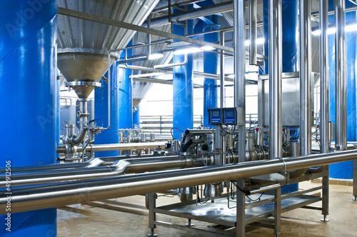 Workshop of modern brewer factory