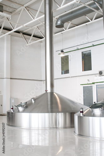 Fermentation vats on brewery
