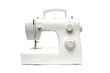 Modern sewing-machine on white background