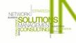 Network Solutions management consulting word tag cloud animation
