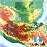 Guatemala Central America  national emblem map symbol motto
