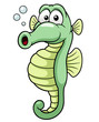 illustration of seahorse cartoon