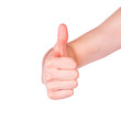 Male hand showing his thumb up. Positivity concept.