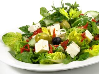 Salat mit Feta-Käse
