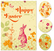 easter greeting card and gift tags