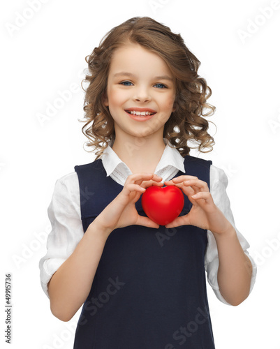 girl with small heart