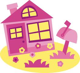 house - vector illustration, house for sale, theme for realtor