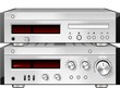 Music Stereo Audio Compact Disc CD Player with Amplifier rack