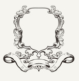 Vector Illustration Of Decorative Frame And Banner