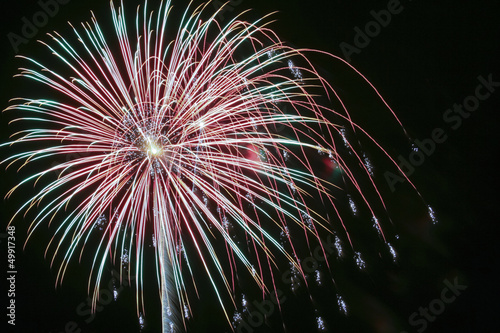 A Night Sky Full of Exploding Fireworks