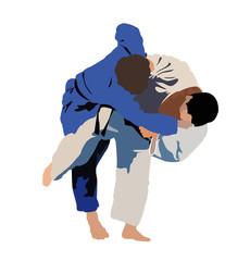 Judo Siluette