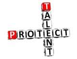3D Talent Protect Crossword on white background poster