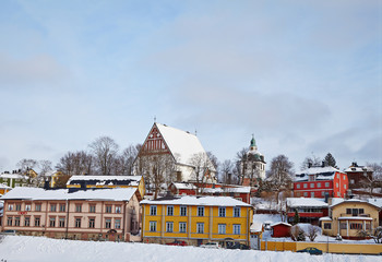 Finland. Old Porvoo in winter