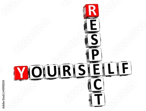 3D Respect Yourself Crossword on white background