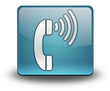 "Light Blue 3D Effect Icon ""Telephone"""