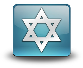 "Light Blue 3D Effect Icon ""Star Of David"""