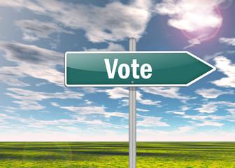 """Signpost """"Vote"""""""