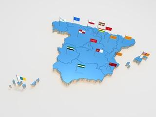 Mapa de España autonomica