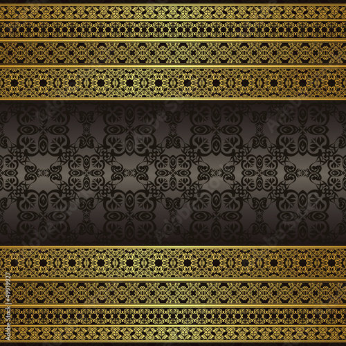 Seamless background with vintage ornament