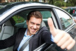 Car driver making ok sign - 49920359