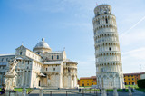Fototapety Famous leaning tower of Pisa during summer day