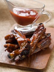 Ribs with tomato sauce