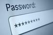 Leinwanddruck Bild - Password