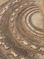 Moonstone of the vatadage in Polonnaruwa in Sri Lanka