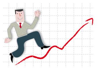 Aufschwung, Erfolg, Geschäftsmann, Börsenkurs, DAX