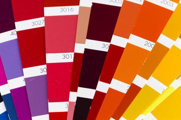 Open RAL/Pantone color card