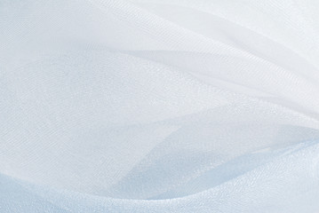 blue organza fabric texture
