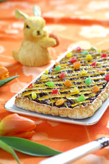 Easter cake with chocolate and coconut