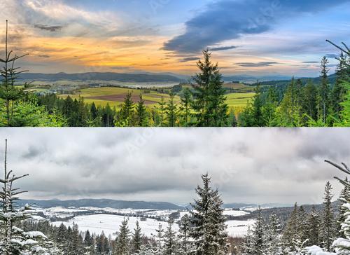Panoramic landscapes - 2 seasons