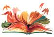 canvas print picture - book