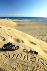 Sunny Day - written on sand