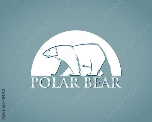 Polar bear label