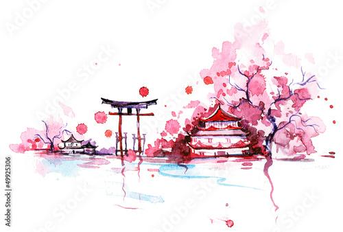 Leinwanddruck Bild Japan