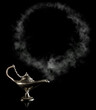 Magic Aladdin Lamp with smoke frame