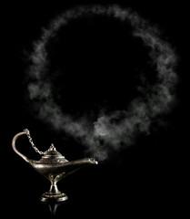 Magic Aladdin Lamp with smoke frame