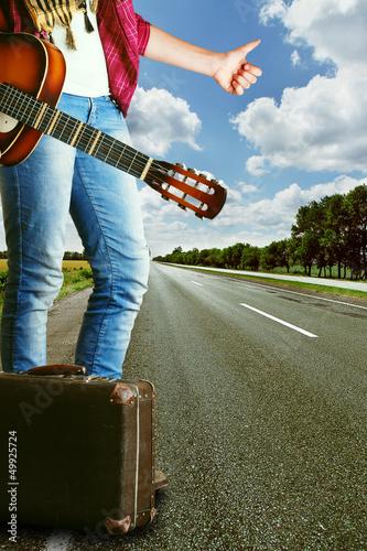 Auto stop traveller gesture