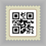 Postage Stamp with QR Code