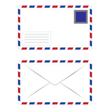 White Envelope with Postage Stamp