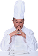 Chef deep in thought
